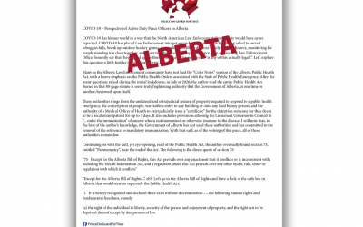 Police on Guard for Thee – Alberta Letter
