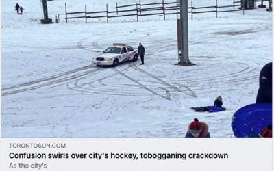 Confusion Swirls Over City's Hockey, Tobogganing Crackdown
