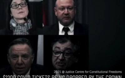 JCCF Video – Tickets issued for alleged Public Health violations continue to be withdrawn in Alberta