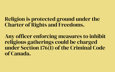 Charter of Rights – Guaranteed Freedom of Religion
