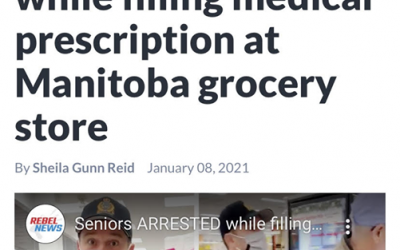 Seniors Arrested while filing Medical Prescription at Grocery Store