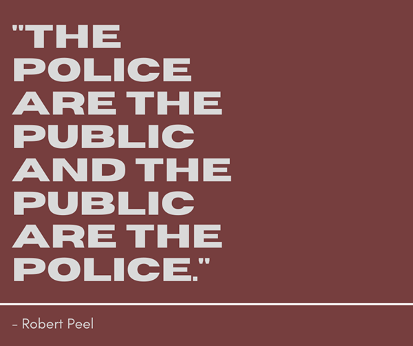 The Police are the Public and the Public are the Police