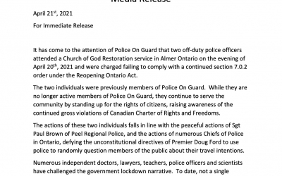 Police on Guard Media Release