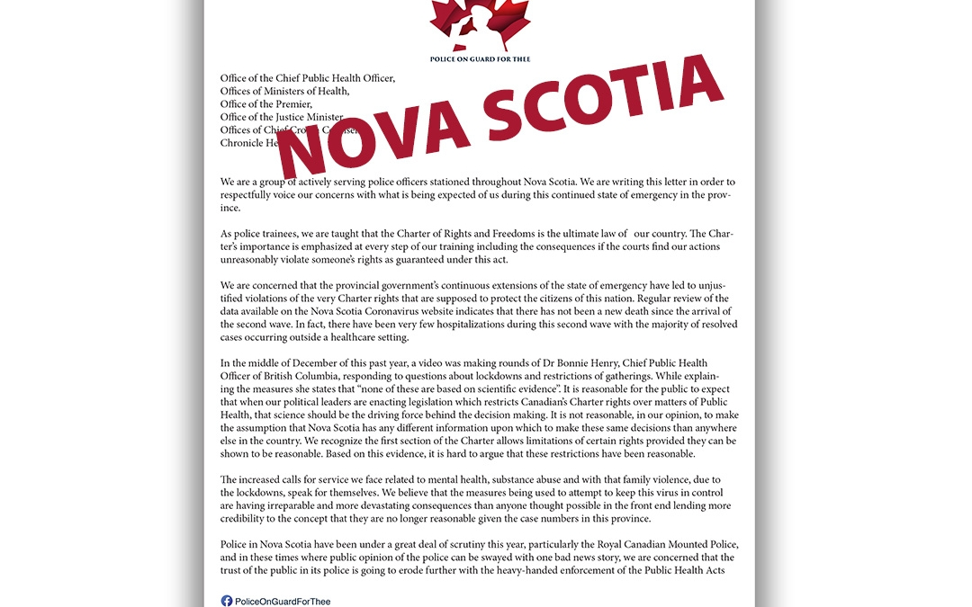 Police on Guard for Thee – Nova Scotia Letter