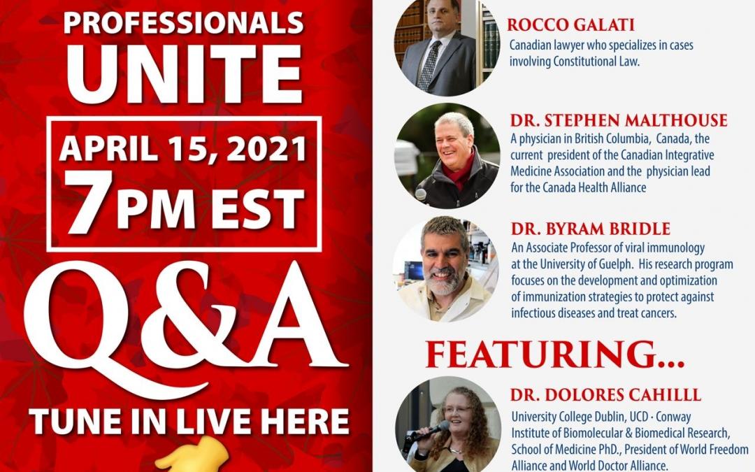 Canadian Professionals Unite Live Panel
