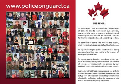 Police on Guard Collage of Members