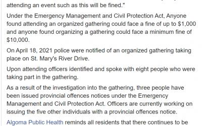 Sault Ste. Marie Police Statement