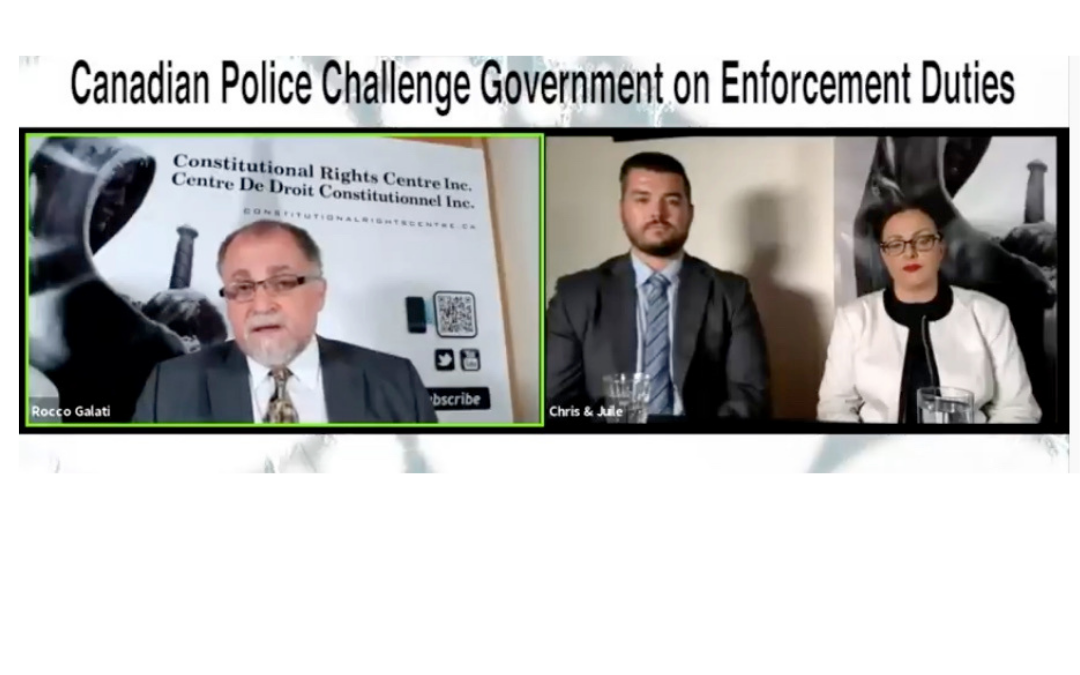 Canadian Police Court Challenge Press Conference