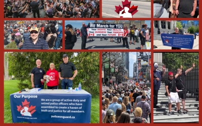 Police on Guard's Freedom Rally's across Canada May 15th, 2021