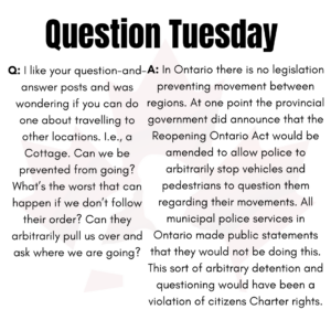 Question Tuesday June 15th