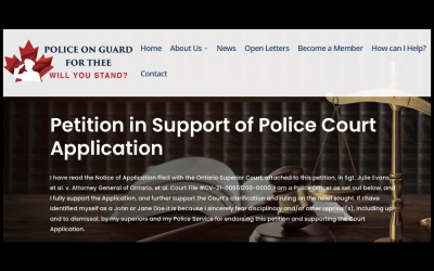 Active and Retired Police Officers can now sign the Petition to support our court action