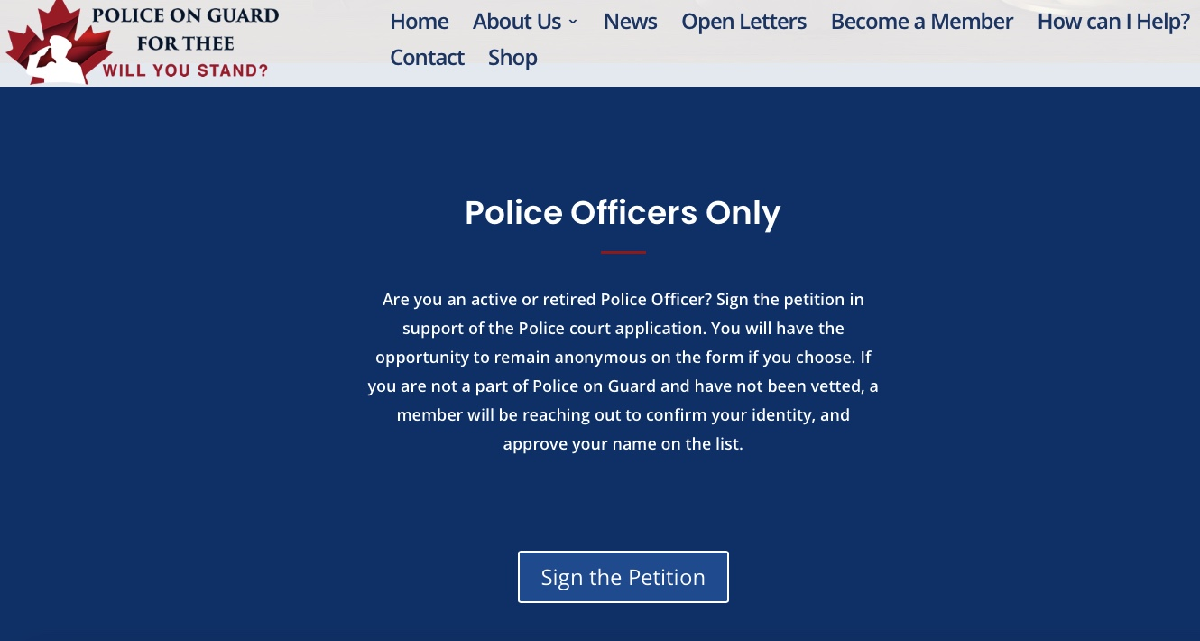 Are you an active or retired Police Officer? Have you Signed our Petition?
